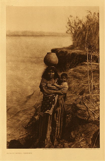 """Renowned Photographer  Edward Sheriff Curtis (1868 - 1952) """"Mohave Water Carrier"""""""
