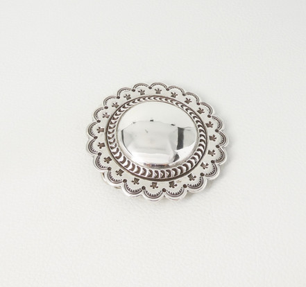 Large fabulous all silver stamped buckle