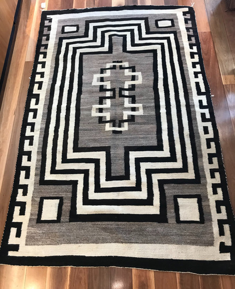 "Rug 1920's ""Crystal"" 7'5x 4'8 2290mm x 1480mm"