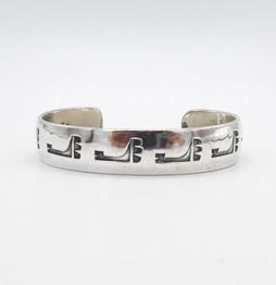 Silver cuff by Cochiti Pueblo jewellery artist Joe Quintana