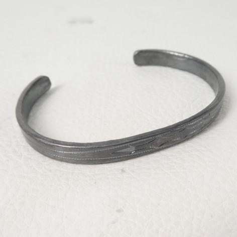 C10. Southern Plains oxidized bracelet , no stones