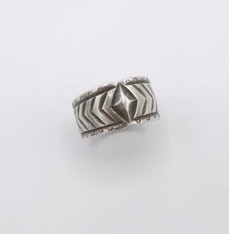 Vintage Navajo silver stamped ring
