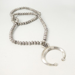 N3 Hand crafted Silver beads with naja