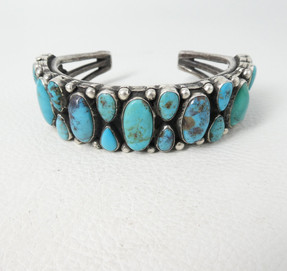 Vintage turquoise cluster, heavy weight