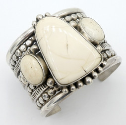 C8 Fossilised Mammoth Ivory and silver cuff