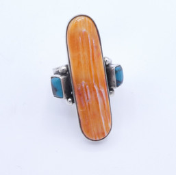 R17 orange spiny shell with Blue Gem turquoise ring