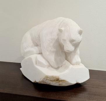 Inuit polar bear sculpture