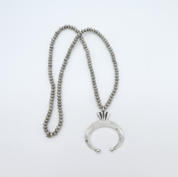N6 Hand Crafted silver beads and naja