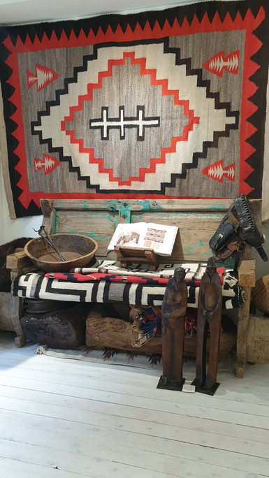 A select range of late 1800's  to early 1900's historic hand-loomed Navajo wool rugs.