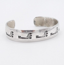 Silver overlay cuff by  Joe Quintana.