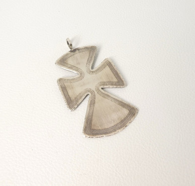 Large silver cross pendant by Fritson Toledo