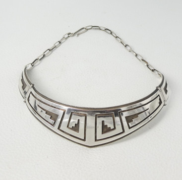 Victor Coochwytewa overlay collar necklace