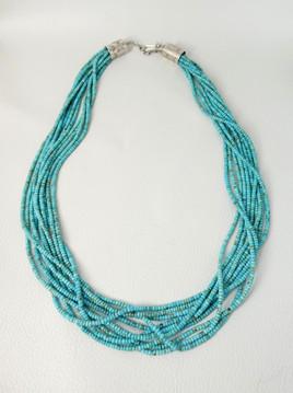 Deanna Tenorio 10 strand turquoise necklace