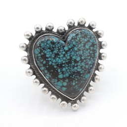 R23 Landers Turquoise heart ring