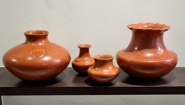 Superb Redware clay pot collection