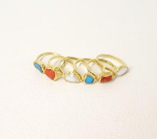 A fine collection of gold rings from Kiowa artsit Keri Ataumbi
