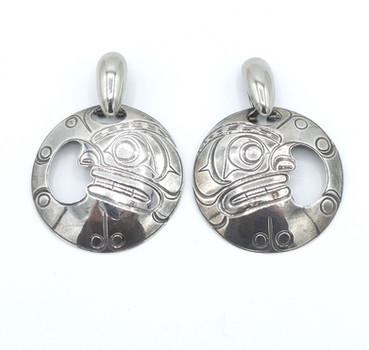 Amazing vintage large Northwest coast earrings.