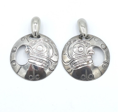 Amazing vintage large Northwest coast earrings.