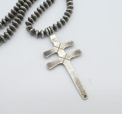 Fritson Toledo silver dragon fly cross pendant.