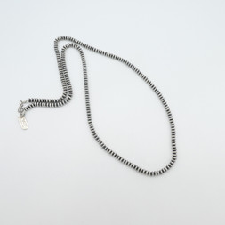 N8 All silver hand crafted bead necklace
