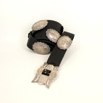Lovely Navajo vintage silver belt