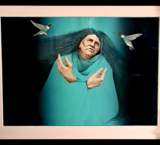 Original lithograph 'Visitation' by Frank Howell