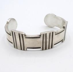 C10 Coin Silver cuff