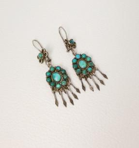 Vintage Pueblo turquoise earrings