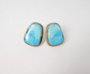 Large natural turquoise stones set in silver