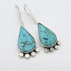 E8 Teardrop Turquoise earrings