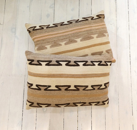 Vintage Navajo rug pillows