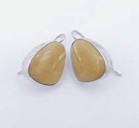 Contemporary Navajo agate and silver earrings.