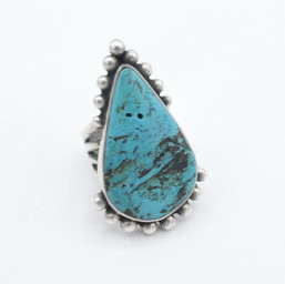 R10 Old Morenci turquoise ring