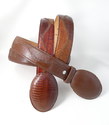Armadillo leather belts