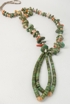Great vintage tab necklace with jochla