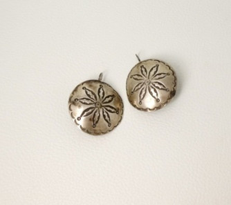Vintage large stamped silver Navajo buttons
