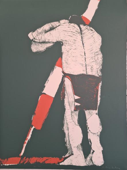 """The Odyssey"" by Fritz Scholder  Edition 16 / 50, 1970.    Size 30H"" x 22W"" 762H x 559Wmm"