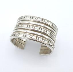 C21 Stamped silver cuff