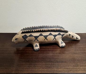 Cochiti lizard clay figure