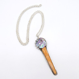 N1 Lions Paw and Abalone pendant necklace