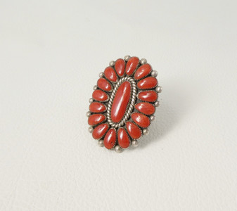 Artist Alice Quam - coral cluster and silver ring
