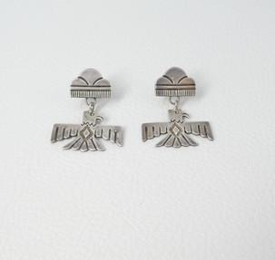 Vintage Navajo thunderbird earrings