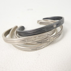 C8. 4 x Southern Plains bracelets, satin or oxidized sterling with diamonds sold individually