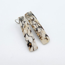 E5 Peanut stone and silver earrings
