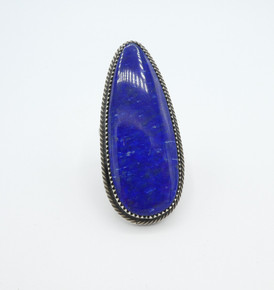 Wonderful large Lapis-lazuli and silver Navajo contemporary ring