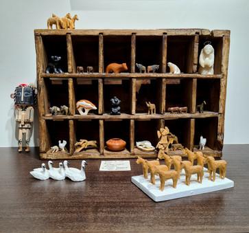 A selection of miniature sculptures