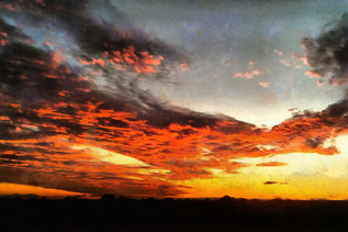 Red African sky