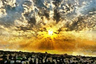 Sunset over Haifa, Israel