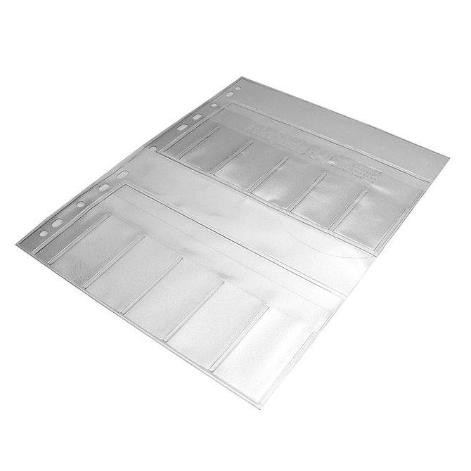 FILOSLIDE 10, 10 zsebes műanyag tárgylemez és dokumentum tároló lap