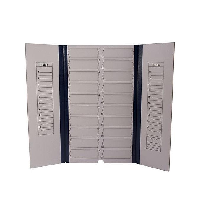 FILOSLIDE Kartonpapír  tárgylemez téka 20 tárgylemezhez - Kék